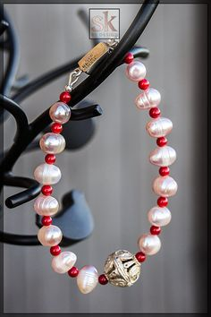 Purple Pearl Necklace Classic Elegant  Bridal Set Pearl Jewelry Set,Coral and Fresh Water Pearl Set Sterling Silver Jewelry (#5027)