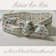 her joyful studio: How to tie a knotted headband