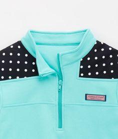 Shop Pullovers: Dot Shoulder Shep Shirt for Girls | Vineyard Vines