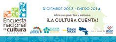 Entre diciembre de 2013 y enero de 2014, se realiza en todo el país la Encuesta Nacional de Cultura (ENC), con una cobertura de unos 3000 hogares y más de 7000 personas consultadas. #costarica