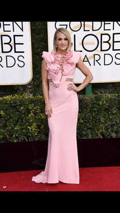 Carrie at the 74th Annual Golden Globes
