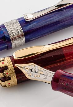 In my dreams, he answers them. Luxury Pens, Fountain Pen Nibs, Fine Pens, Pen Collection, Best Pens, Writing Pens, Dip Pen, Pencil And Paper, Writing Instruments