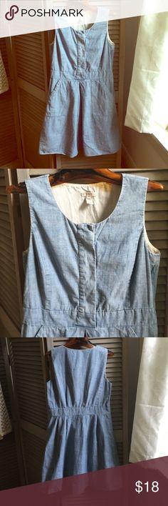 J crew chambray dress sz 4 So cute- even has pockets! J. Crew Dresses