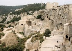 Les Baux – a small medieval village of less than 500 inhabitants perched high on a hill is about  six miles from St. Remy. France