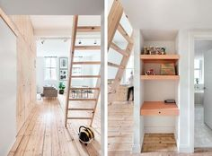 Spiral staircase sounds better, but here's an alternative affordable, low-space design for a staircase if for any reason spiral gets eliminated!