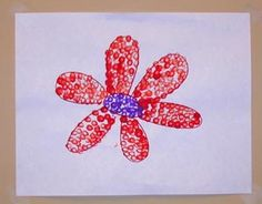 easy art activity using cotton swabs and paint