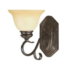 Millennium Lighting�6-3/4-in W Devonshire 1-Light Burnished Gold Arm Wall Sconce