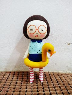 Handmade+girl+with+her+cutie+duckling+by+EEchingHandmade+on+Etsy