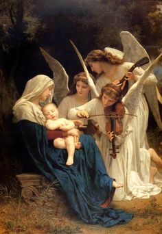 Bouguereau PAINTER SONG OF THE ANGELS Baby Violin FINE ART PRINT REPRO LARGE | eBay