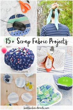 Use up all your small pieces of fabric with these scrap fabric projects! It's fun to make small projects in your leftover favorite fabrics! Scrap Fabric Projects, Small Sewing Projects, Sewing Projects For Beginners, Fabric Scraps, Craft Projects, Quilting Fabric, Fabric Sewing, Hand Sewing, Sewing Blogs