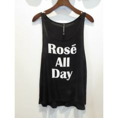 Rosé All Day Top PLEASE DON'T BUY THIS LISTING!! If you would to purchase one please let me know which size you'd like and I will tag you on the correct listing to purchase. These are available in sizes small, medium, and large!! No trades but I do offer 15% off of bundle purchases!:) QUANTITY AVAILABLE:Small(2) Medium(2) Large(2)ALSO AVAILABLE AT hannahbeury.com! Tops Tank Tops