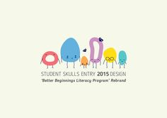 (Winning entry PADC Student Skulls - Brand Design Beginnings is a WA wide literacy program designed to support families and communities in building literacy skills for children. Propose a new brand identity for Better Beginnings that e… Kids Branding, Logo Branding, Branding Design, Brand Identity, Literacy Programs, Class Design, Education Logo, Kids Logo, Logo Design Inspiration