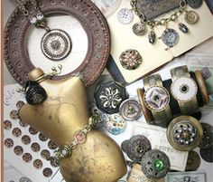 Because her stuff is awesome. Jewelry made with vintage buttons.