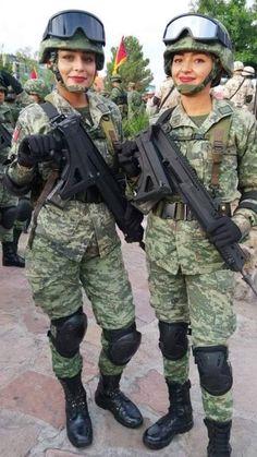 Military Girl, Female Warriors, Tween, Guns, Sisters, Beauty, Weapons Guns, War, Women's