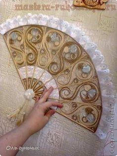Мастер-класс по филиграни из джута: Японский веер