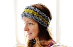Finger Knit an Ear Warmer in 15 Minutes with Simply Maggie www.SimplyMaggie.com