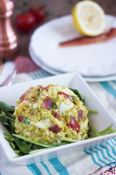 Avocado BLT Egg Salad via @akornblum/ // #glutenfree #avocado #paleo #dairyfree #blt