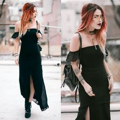 Yes!!! Goth styles! 🖤 Edgy Outfits, Grunge Outfits, Classy Outfits, Cool Outfits, Fashion Outfits, Black Outfits, Big Fashion, Dark Fashion, Grunge Fashion