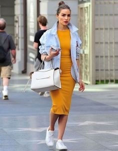 Style Watch: Celebrity street style (March/April olivia-culpo-casual-style-running-errands-in- Fashion Mode, Look Fashion, Skirt Fashion, Street Fashion, Spring Fashion, Fashion Outfits, Womens Fashion, High Fashion, Fashion Trends