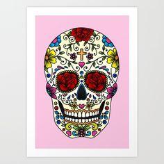Sugar Skull Art Print by Jade Boylan | Society6
