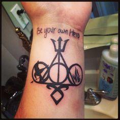 My new tattoo #tattoo #beyourownhero #beyourownherotattoo #divergenttattoo #harrypottertattoo #mortalinstrumentstattoo #hungergamestattoo #percyjacksontattoo