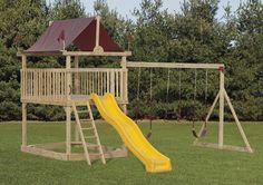 playsets plans for free | Backyard Playstation Model 202 Wood Swingset - Pennsylvania Amish ...