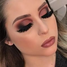 104 fancy makeup tips ideas to look cute any event page 36 Smoke Eye Makeup, Eye Makeup Tips, Makeup Dupes, Eyeshadow Makeup, Makeup Ideas, Makeup Kit, Fancy Makeup, Glam Makeup, Neutral Makeup