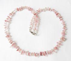 Ketten kurz - Erdbeerquarz-Kette Collier - ein Designerstück von soschoen bei DaWanda