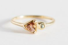 Sapphire and Sunstone Soleil Ring