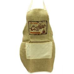 Soft Jute Aprons - Coffee