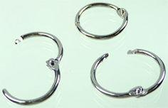 Silberfarbene, aufklappbare Schlüsselringe, 20 mm