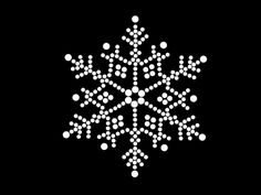 HotFix Diamante Snow Flake Winter Transfer iron on motif for t-shirts bags Christmas Mandala, Christmas Rock, Snowflake Template, Snowflake Pattern, Dot Art Painting, Stone Painting, Mandala Painting, Mandala Dots, Mandala Pattern