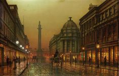 Louis H. Grimshaw (son of John Atkinson Grimshaw) - Grainger Street, Newcastle upon Tyne 1902