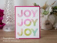 Addicted to Stamps and More! Holiday Cards, Christmas Cards, Bold Words, Christmas Challenge, Pink Cards, Cute Cards, Hello Everyone, Flourish, I Card