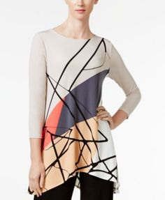 Alfani Printed Swing Top, Only at Macy's