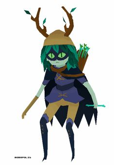 Wanted to try out some lowpoly fanart and I really love Huntress wizard's character design so I thought why not! She is 1064 polys total. Bonus BMO I made but didn't do anything with.