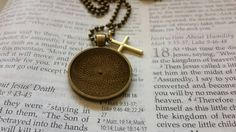 Mustard Seed Necklace - Mustard Seed Faith - Christian Jewelry - Faith Of A Mustard Seed - Baptism - Matthew 17 20 - Antique Bronze Necklace - pinned by pin4etsy.com