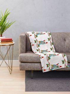 Fun Christmas gift ideas, Jolly Christmas kitty cat ,cute Christmas design Throw Blanket