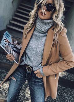 Casual Winter Outfits For Women. Women's Style. Look Fashion, Trendy Fashion, Woman Fashion, Fashion Boots, Fashion Basics, Face Fashion, Fashion Scarves, White Fashion, Cheap Fashion