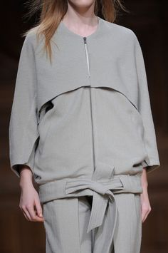 Sporty Chic Jacket - pattern cutting; contemporary fashion details // Christian Wijnants Fall 2013