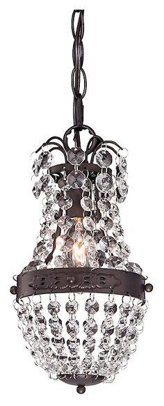 Chandeliers | Ashley Furniture HomeStore Mini Pendant Lights, Lantern Pendant, Pendant Lamp, Pendant Lighting, Bronze Pendant, Crystal Pendant, Red Crow, Putting On The Ritz, Elk Lighting