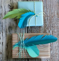 DIY make your own paper feathers