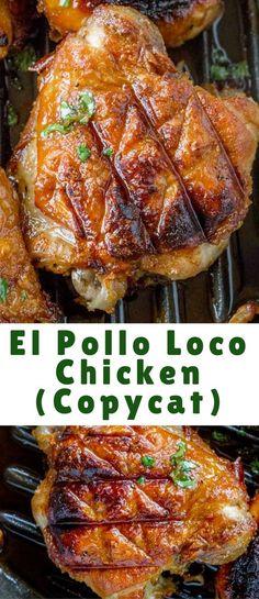 El Pollo Loco Chicken marinated in citrus and pineapple juice overnight for the PERFECT El Pollo Loco copycat recipe!