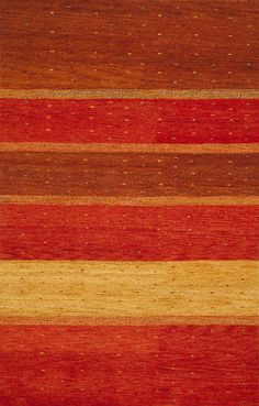 Rugsville Gabbeh Sunshine Rust Wool Rug 11908