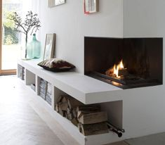 A fireplace is not old fashioned, on the contrary! - A fireplace is not old fashioned on the contrary! Home Staging, Decor Interior Design, Interior Decorating, Nogent Sur Marne, Small Space Storage, Fireplace Surrounds, Interior Exterior, Maine House, Interior Inspiration