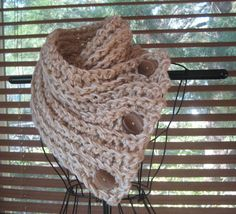 Crochet Scarf Pattern Button.....PATTERN by SplendourInTheGrass, $5.00