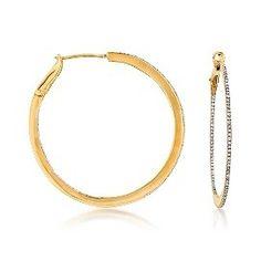 Sparkly diamond hoops Chic Summer Style, Delicate Jewelry, Diamond, Bracelets, Gold, Fashion, Dainty Jewelry, Bangles, Moda