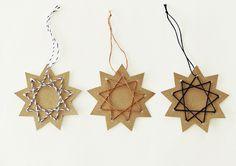 Weihnachtsdeko - Ahoj-2012 Weihnachtssterne-Anhänger,Stern,3er-Set - ein Designerstück von Ahoj-2012 bei DaWanda