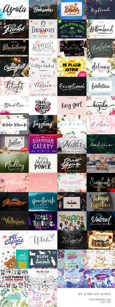 The Jumbo July #Bundle #Fonts #Graphics