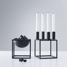 Kubus Kerzenständer by Lassen ab 120€ in schwarz, weiß oder Kupfer. Auch als Kubus Bowl